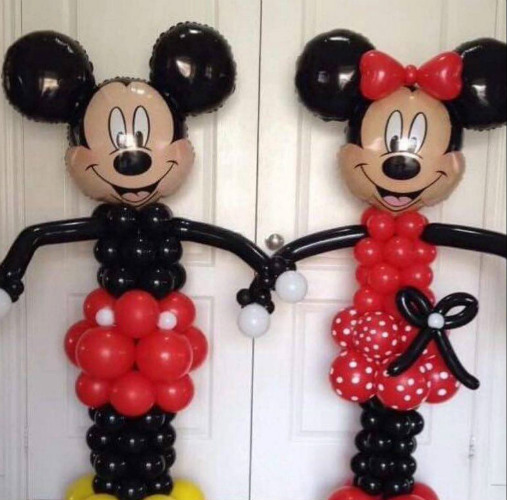 mickey and minnie mouse balloon decorations for children's parties