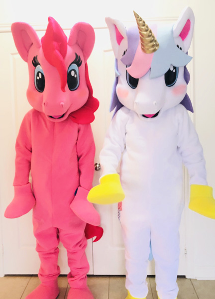 Little Pony and Unicorn Mascots for hire