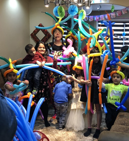 Magic and balloon twisting fun for birthday parties by Minerva's Creations